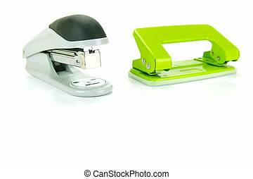 Office Stationery - Office stationery isolated against a...