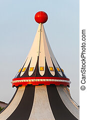 Circus tent top - Circus tent marquee with red ball at the...
