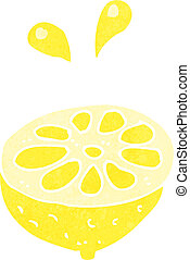 cartoon fresh lemon