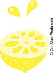 cartoon fresh lemon