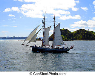 Tall Ship RTucker Thompson sailing through the Bay of...