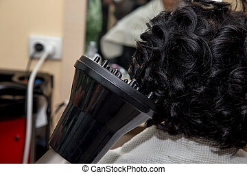 hairstyle of hair in a beauty salon