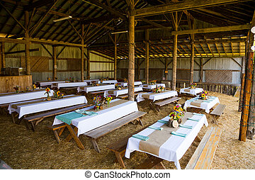 Barn Wedding Reception Detail