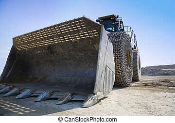 Loader - Heavy duty front loader on a construction site