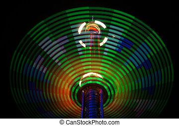 Abstract Lights - Rides in motion at The OC Fair