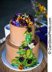 樹, 主題, 婚禮, 蛋糕