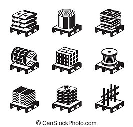 Construction and building materials - vector illustration