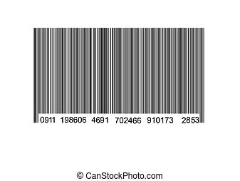 Bar code label on a white background