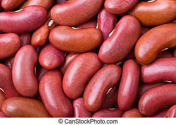 Red haricot beans macro