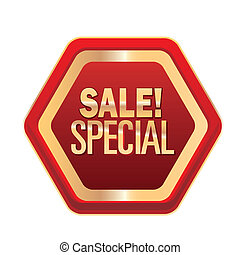 sales - a colored icon with some text for sales purposes