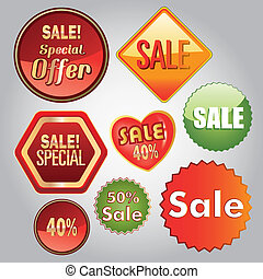 sales - a lot of different icons with text for sales...