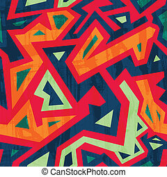 ancient seamless pattern with grunge effect