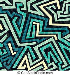blue maze seamless pattern