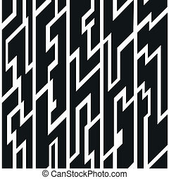 black tribal seamless pattern