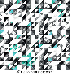 blue color grunge triangle seamless pattern