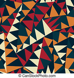 african triangle seamless pattern