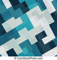 blue tech square seamless pattern
