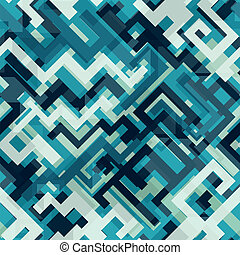 blue tech seamless pattern
