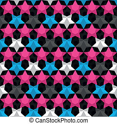 bright star seamless pattern