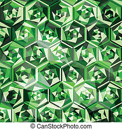 emeralds seamless pattern