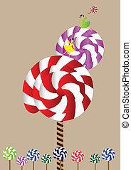 Lollipop Tree - Little girl with a big lollipop