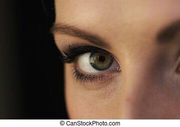 Close up beautiful woman eye make up