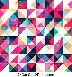 pink triangle seamless pattern
