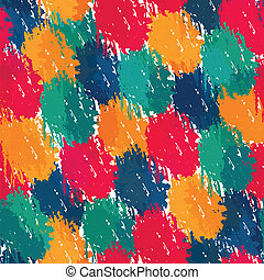 painting style seamless pattern
