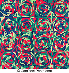 retro mosaic seamless pattern with gluss effect