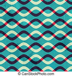 retro curve seamless pattern with grunge effect