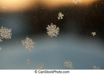 Frosty Window Abstract Background