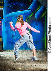 Breakdancer Selected focus on face
