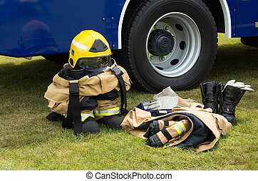 Firemans Clothes - Some firemans safety clothes and helmet...