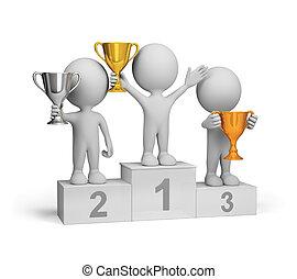 Winners on the podium