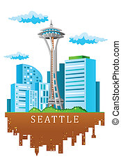 Seattle skyline - A vector illustration of Seattle skyline...