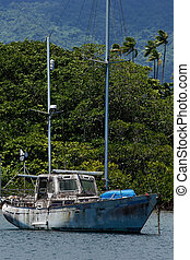 porto,  vanua, Insel,  savusavu, Segelboot,  Levu, altes, Fidschi