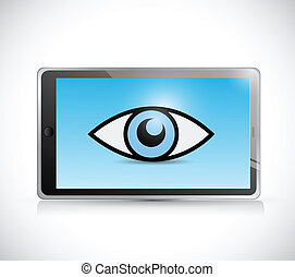 tablet surveillance illustration design