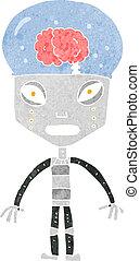 cartoonw weird robot - cartoon weird robot