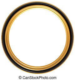 Circular antique picture frame - Isolated illustration of a...