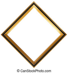Diamond shaped antique picture frame - Isolated illustration...
