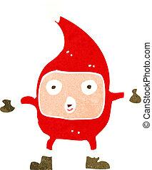 cartoon funny christmas creature