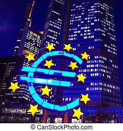 Euro Sign - February 12 : Euro Sign. European Central Bank...