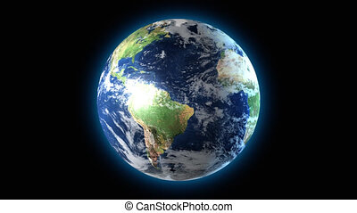 Earth globe rotating - 3D animation of Earth rotating. Can...