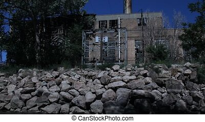 Abandoned building with smoke stack (2)