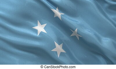 Flag of Micronesia seamless loop