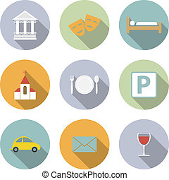 Travel Vector Flat Icons for Web and Mobile Applications