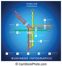 Route Timeline Business Infographic Background Design...