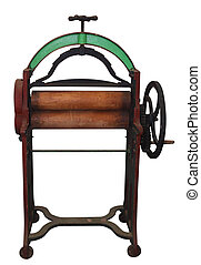Antique Laundry Mangle isolated with clipping path...