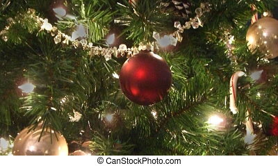 Christmas tree twinkle lights loop - Christmas tree lights...