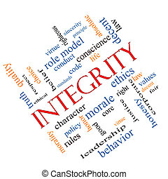 Integrity Word Cloud Concept Angled - Integrity Word Cloud...